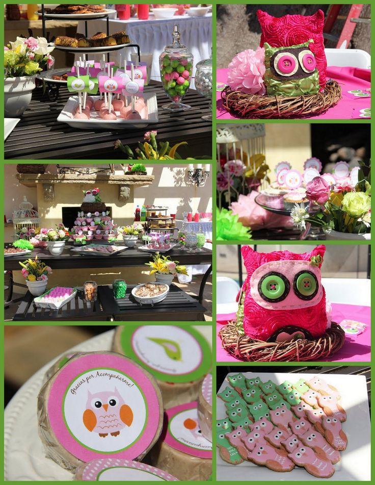 Cute owl theme party