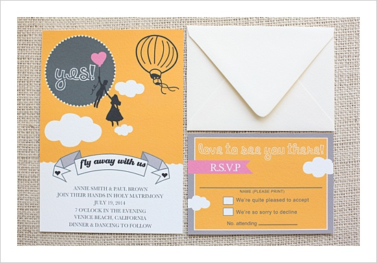 Can't stop looking at this free invitation design from The Wedding Chicks.