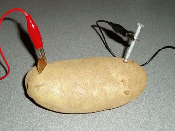 A great lesson plan for building a simple circuit using potatoes - 4th grade science