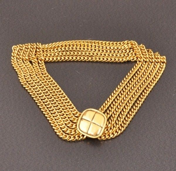 Chanel Vintage Gold Tone Chain Necklace