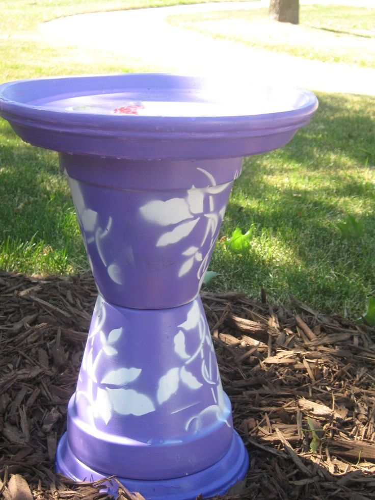 homemade bird bath - Google Search