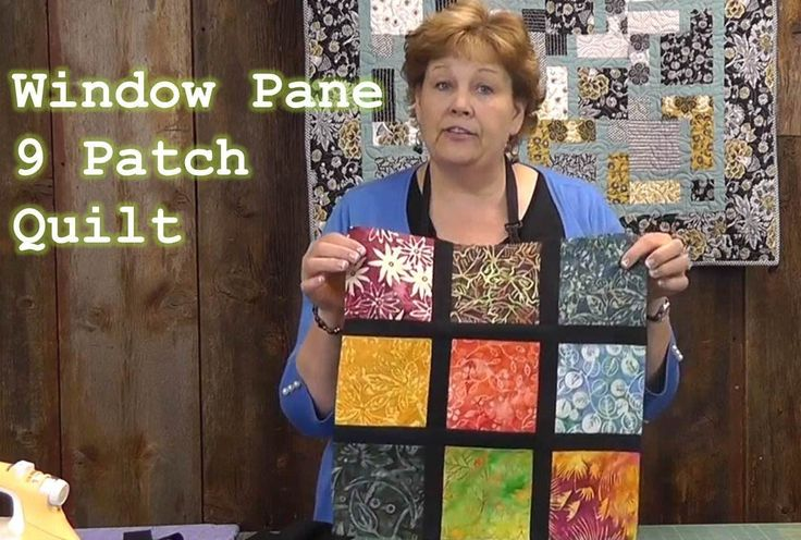 Window Pane 9 Patch Quilt Tutorial - I think, Ashley, that this would be perfect for the quilt you're wanting!