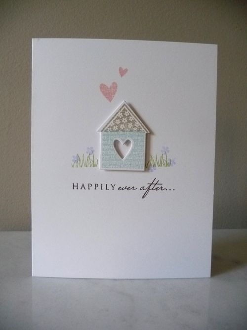Sweet wedding card by Janelle Hayes