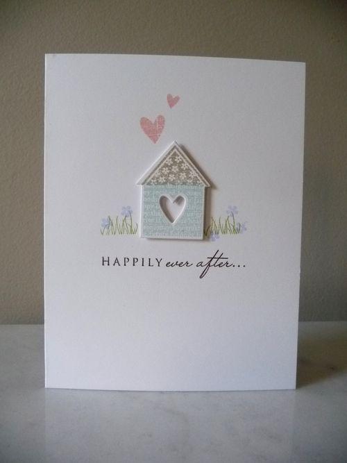 Schattige kaart met een huisje.