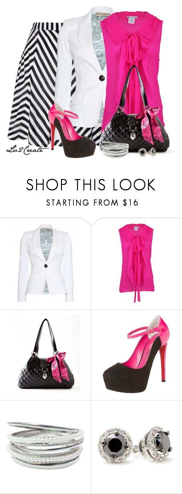"""""""Chevron Stripes with neon"""" by lv2create ❤ liked on Polyvore featuring Ella Moss, Emilio Pucci, Oscar de la Renta and FERSENGOLD"""