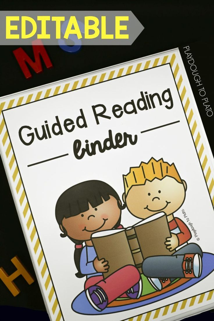 EDITABLE Guided Reading Binder. So many helpful organization sheets and assessments for guided reading!