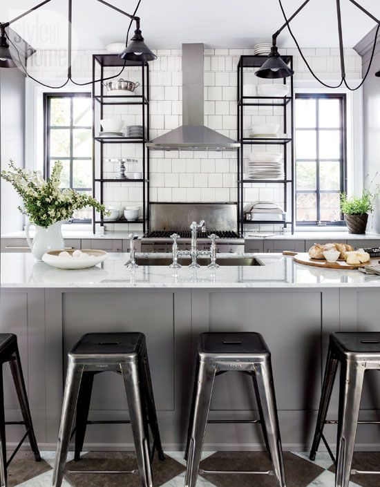 industrial-bistro-kitchen - Style at Home