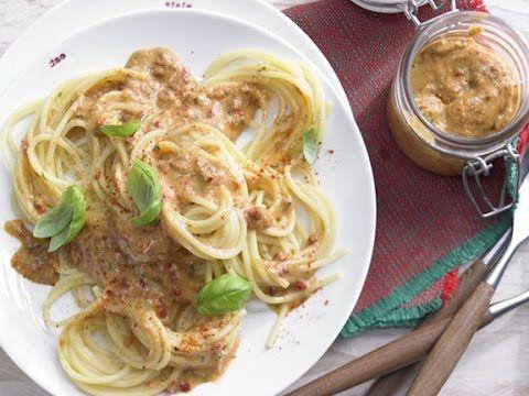 Домашний соус для спагетти.  Спагетти с песто