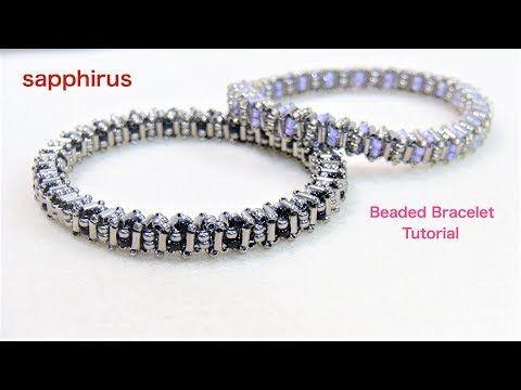 【ハンドメイド】ビーズだけでキラキラ✨バングルの作り方 ビーズステッチで作るブレスレット How to : Even count-Tubular Peyote stitch - YouTube