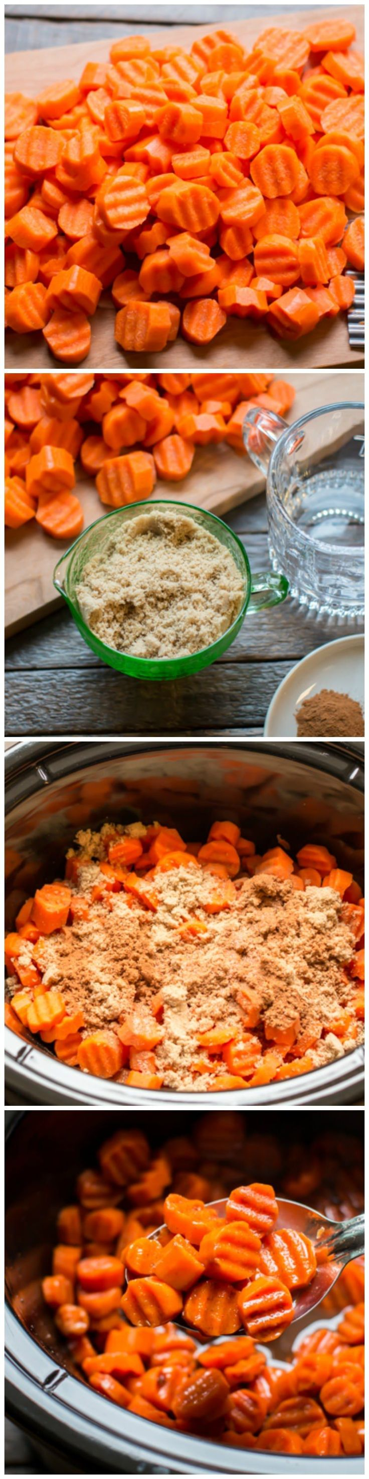 Slow Cooker Candied Carrots. A perfect holiday side dish!
