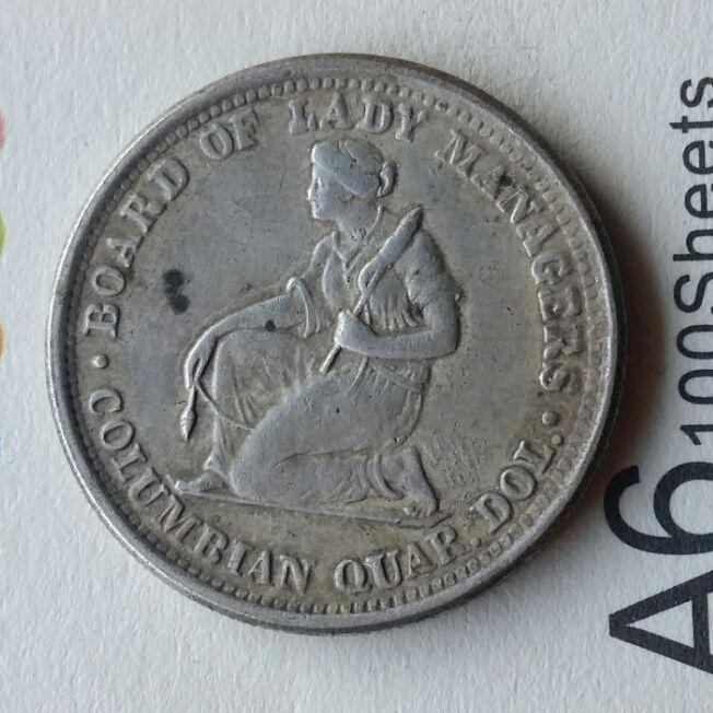 US 1893 Isabella Quarter Dollar copy coins manufacturing