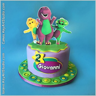 Barney cake by Cakes.KeyArtStudio.com, via Flickr