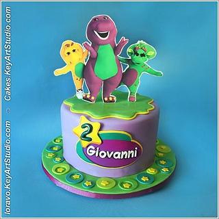 Barney cake by Cakes.KeyArtStudio.com, via Flickr