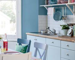 Donnez à votre cuisine une touche subtile de couleur avec des éclats de joli pastel tels le bleu poudré, le rose et la sauge.