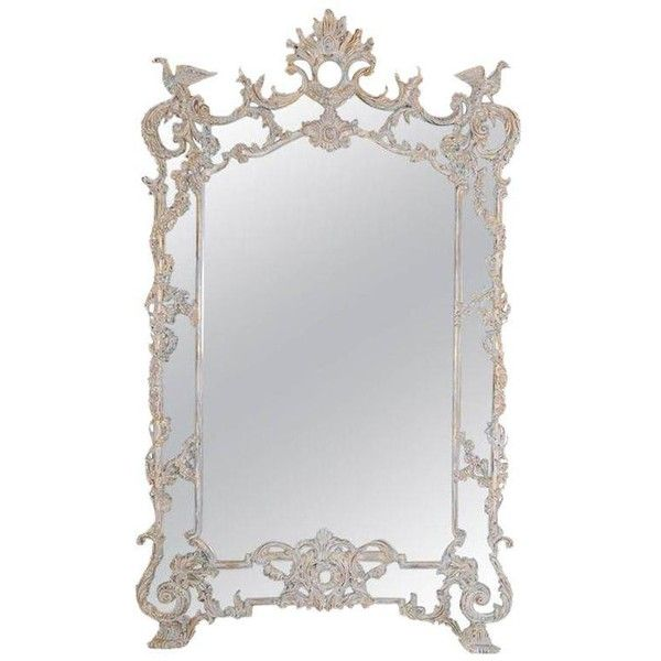 Monumental Italian Rococo Style Mirror ($7,500) ❤ liked on Polyvore featuring home, home decor, mirrors, full-length & floor mirrors, floral home decor, full length mirror, ivory mirror, full length cheval mirror and cream mirror