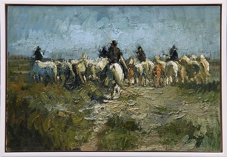 Exhibition opens 16 December. The Guardians of the Camargue oil on Canvas #camargue #camarguehorses #camargueguardien #oilpainting #equestrianart #horses #eatwellgallery #contemporaryart #contemporarypainting #southafricanartist #pin