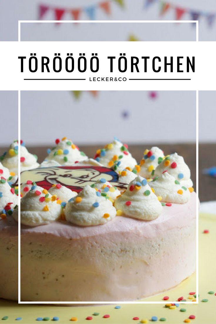 Törööö Törtchen | Erdbeer-Schokoladen-Sahne-Törtchen mit Schokoladigem Benjamin Blümchen