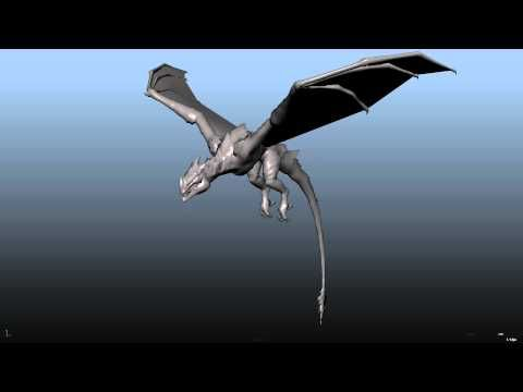 3D animation - Dragon fly cycle - YouTube