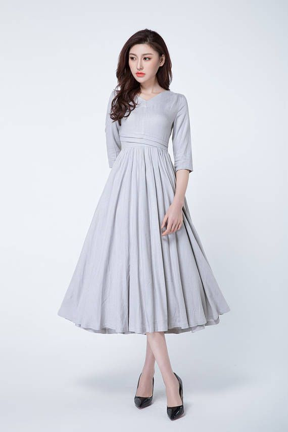 Hey, I found this really awesome Etsy listing at https://www.etsy.com/ru/listing/521979911/light-grey-dress-linen-dress-maxi-dress