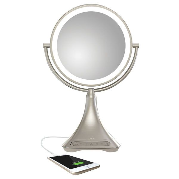 Connect this vanity mirror to any Bluetooth-enabled device, and you can listen to your favorite playlist as you get ready. Genius! Bluetooth Vanity Mirror Speaker, $100