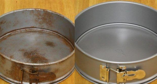 طريقة لتنظيف المول ديال الكيك المصدي و المقشر بالمشروب الغازي وورق الأليمنيوم يرجع جديد Garden Pots Ashtray Tray