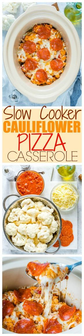 Everyone's Raving About this Cauliflower PIZZA Casserole! (Clean Eating Approved) - Clean Food Crush