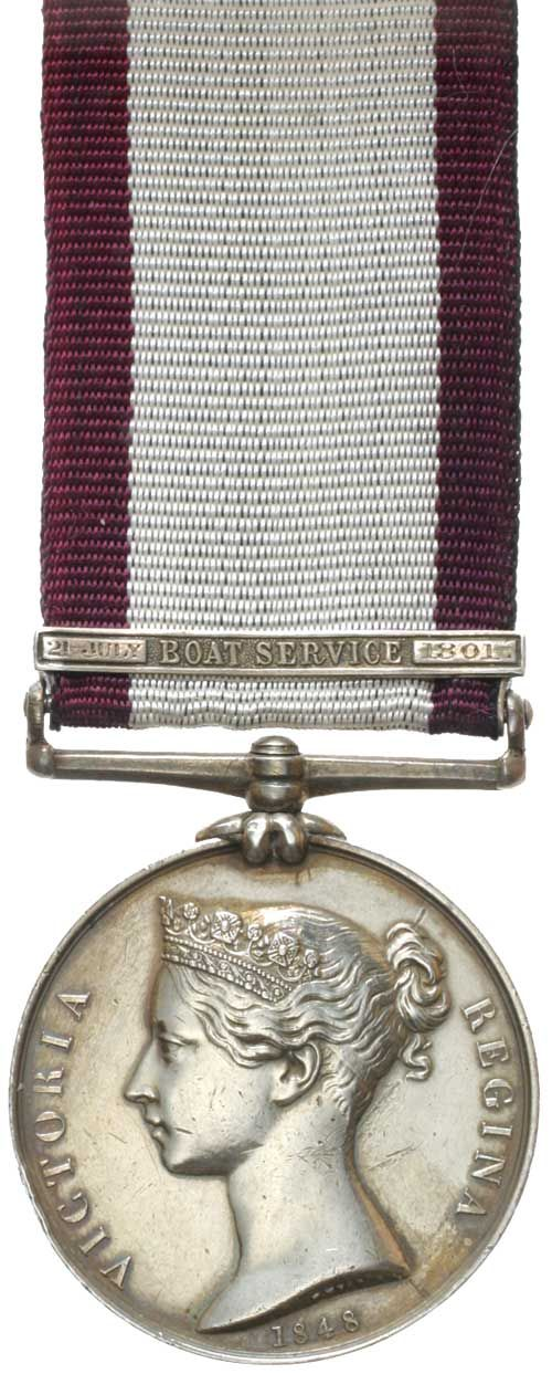 NAVAL GENERAL SERVICE MEDAL 1793-1840, - clasp - Boat Service 21