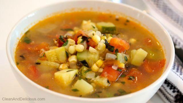 Summer Harvest Soup - Clean & Delicious