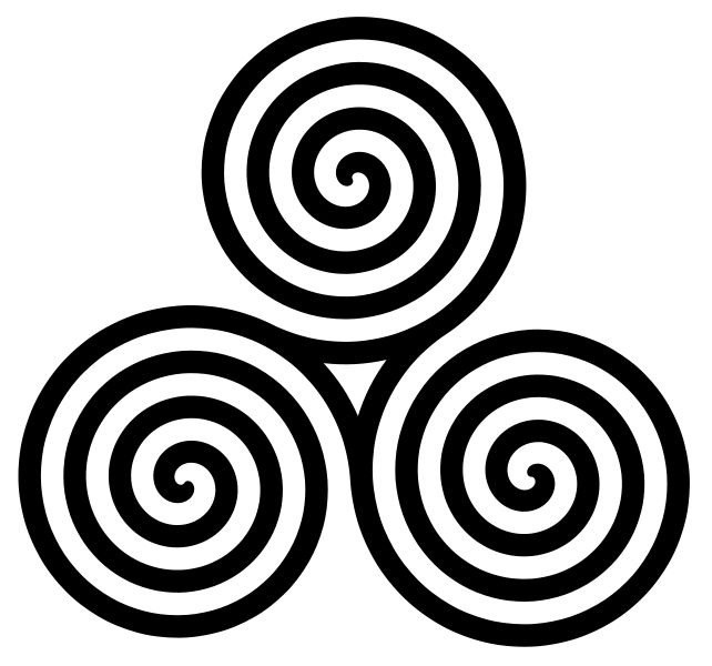 """The Spiral of the Goddess: Celtic symbol of the Goddess and the threefold nature of the Divine. It was related with femininity and with the three stages of womanhood: Maiden, Mother, Crone. Another interpretation would be that of  the three realms of the material world: Land, Sea and Sky. Numerous variations of the spiral are found in paganistic and neopaganistic representations."""