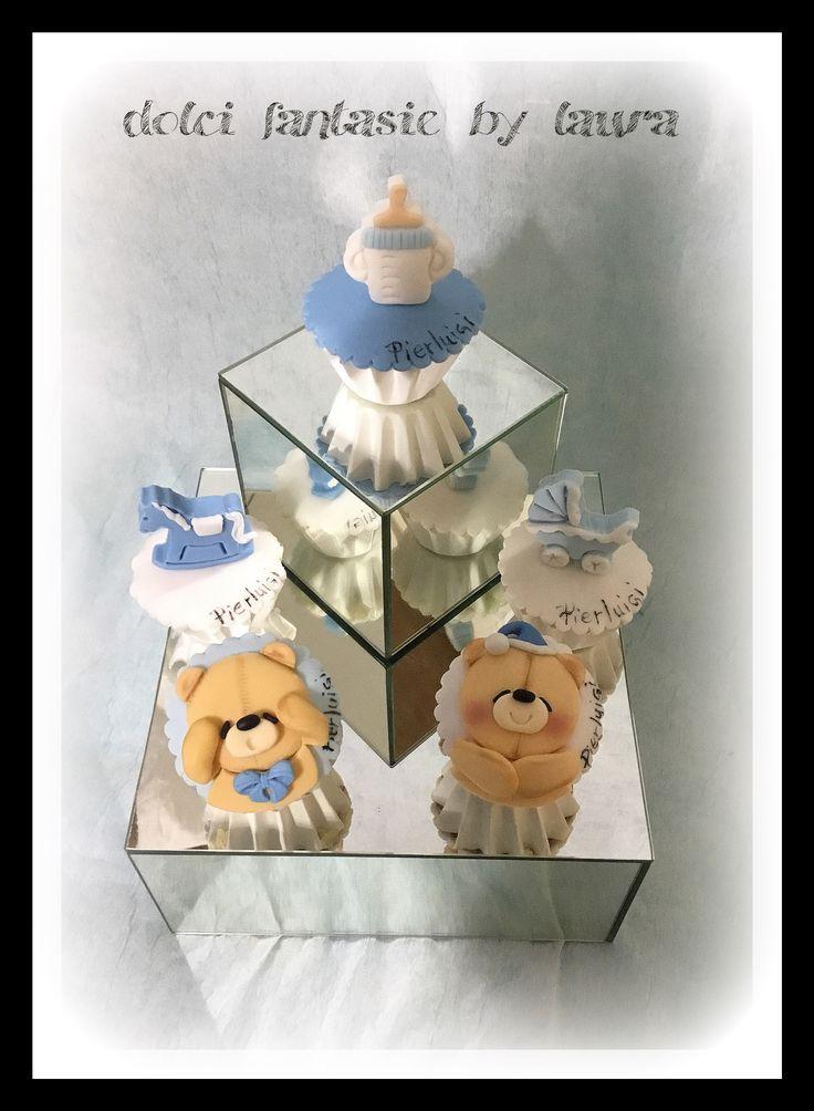 Bear cup cake