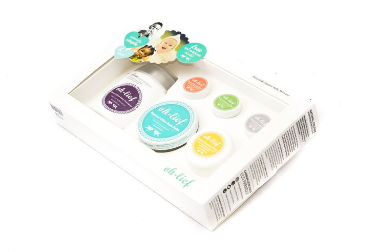 Organic, natural skin care products for your baby - what could be better? These lovely boxes make a wonderful baby shower gift too!