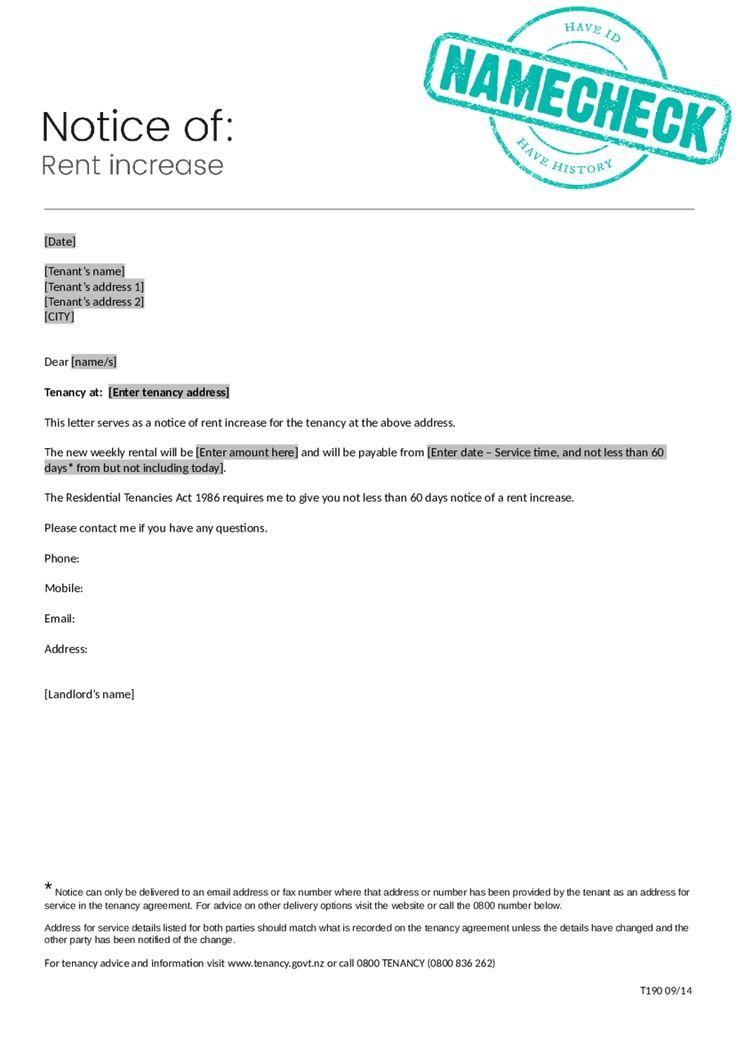 2018 rent increase letter fillable printable pdf Teacher