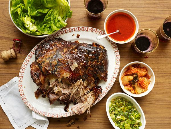Korean pork -- as interpreted by David Chang of Momofoku.  Definitely making this for the start of the Korean new year.