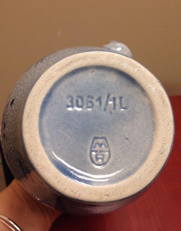 #Westerwald #Marz# Remy #SaltGlaze #Pitcher Stoneware 1 Liter #Vintage 8