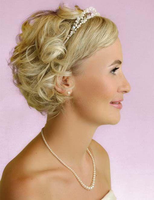 Neueste Hochzeits-Frisuren für kurzes Haar Bild 2014: Hochzeit Frisuren For Kurz Lockighaar ~ frauenfrisur.com Frisuren Inspiration