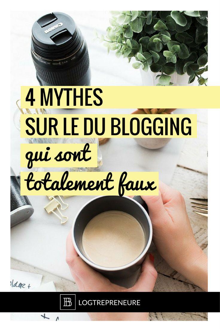 Quand on parle de bloguer, on a souvent plein d'images en tête qui n'ont RIEN avoir avec la réalité. Crois-tu toi aussi à tous ces mensonges ? #blogging #blog #entrepreneure #entrepreneuse #mythes
