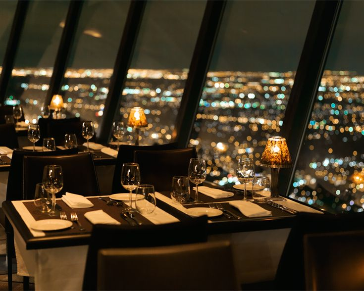 35 Most Amazing Restaurants With A View / 360 Restaurant at the CN Tower in Toronto, Canada