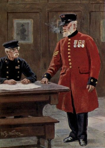 Living London 1902 Chelsea Pensioner Poster Print by William Barnes Wollen (18 x 24)