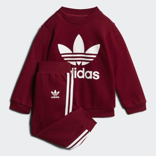 adidas jogginganzug burgundy baby