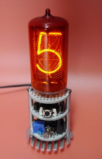 Z566M Single Digit Nixie Clock 1桁ニキシー管時計自作