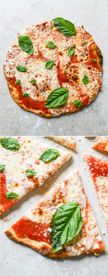 The easiest NO RISE thin crust pizza!! I howsweeteats.com