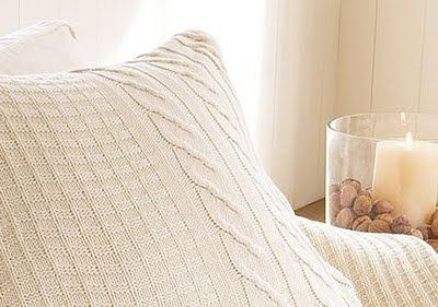 DIY Sweater Pillow - great for fall!