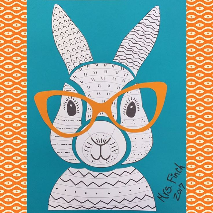 "12 vind-ik-leuks, 1 reacties - Janna Finch (@jannafinch) op Instagram: 'I love our ""Hopster Hipster"" bunnies! They are all so adorable! #instabunnies #happyclassrooms…'"