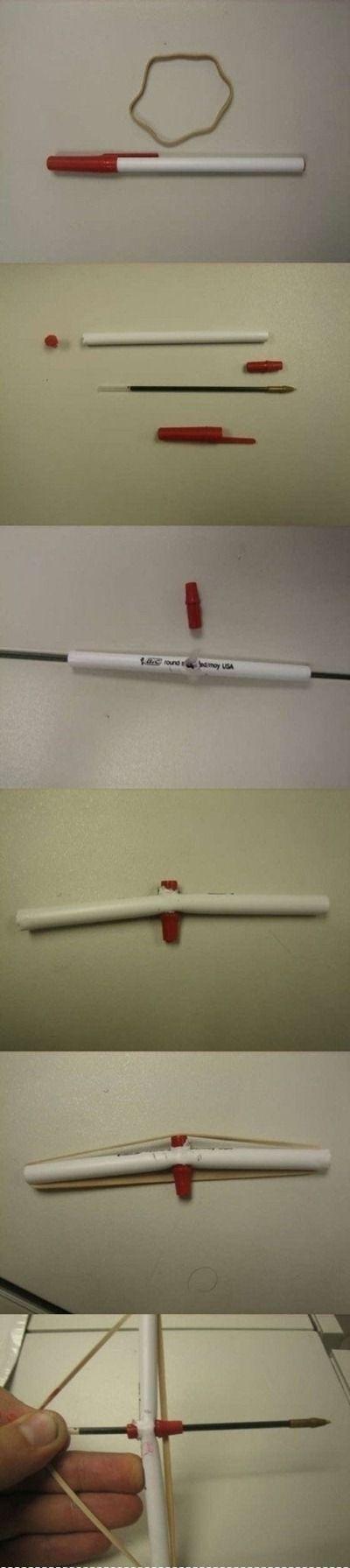Pen crossbow