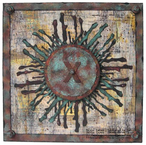 Seth Apter PaperArtsy New Release - Wood Chips - Rust and Patina effects