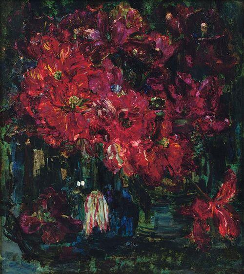 Tulpen, still life with red tulips, 1961, Floris Verster. Dutch (1861 - 1927)