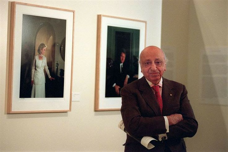December 23, 1908. Yousuf Karsh, CC (December 23, 1908 ? July 13, 2002) was an Armenian-Canadian photographer, and one of the most famous and accomplished portrait photographers of all time. In this image: Armenian-born, Canadian photographer Yousuf Karsh stands in front of his portraits of U.S. President Bill Clinton and first lady Hillary Rodham Clinton at his exhibition featuring 68 works at the Canadian Embassy in Washington, D.C. on March 25, 1994. AP Photo/Shayna Brennan.
