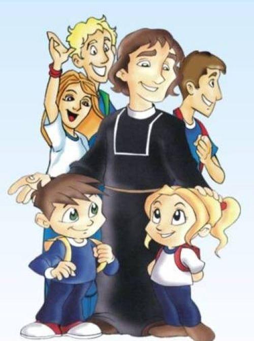 imagen de Champagnat con niños