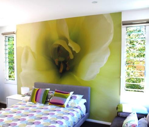 Brighten up a bedroom www.lookimages.com.au/materials-media/wallpaper/