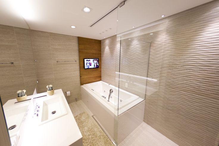 Banheiro  Arquiteta Mariangela Pizon Produto Cerâmica Portinari #ceramicap -> Banheiros Decorados Ceramica Portinari